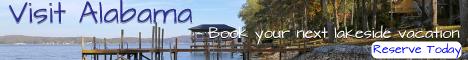Visit Alabama lakefront vacation rentals