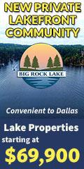 Texas Waterfront Big Rock Lake