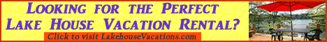Lake House Vacation rental signup