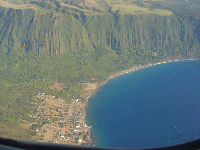 Kalaupapa, Hawaii, 1010 m above Pacific Ocean