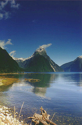 Mitre Peak, New Zealand, 1683 m above Milford Sound