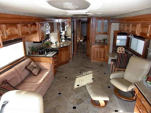 Luxury RV living quarters