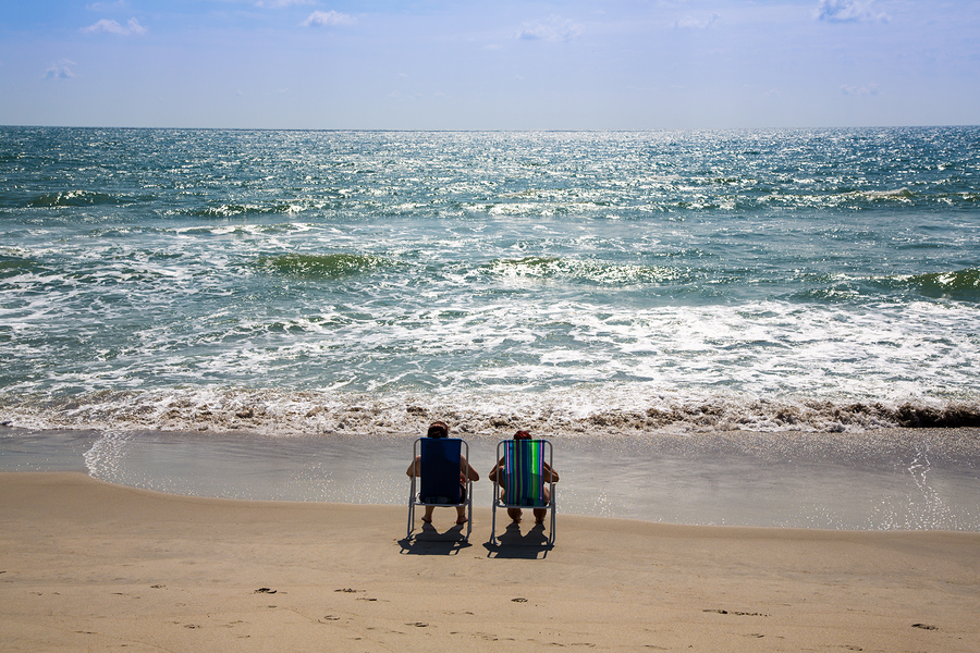 Cape Fear Beach Relaxing Couple