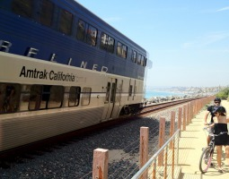 Amtrak runs on the coast from San Diego all the way to Northern California via San Clemente