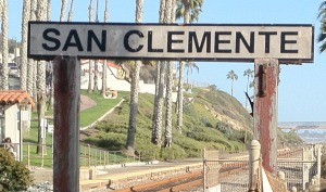 San Clemente Welcome sign greeting the visitors to this gem in the Orange County of Southern California
