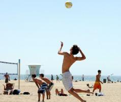Beach Volleyball at Hermosa Beach, CA