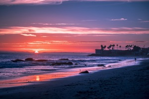 Malibu beaches sunset