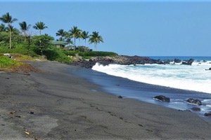 Waikoloa Beach House Rentals, Black Sand Beach