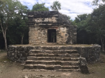 Ancient Mayan ruins in Cozumel at San Gervasio