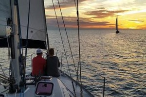 Waikoloa Beach House Rentals, Sailing into Sunset